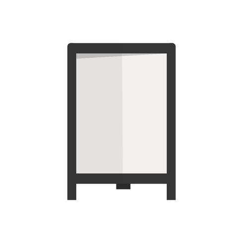 Illustration av blank tecken vektor