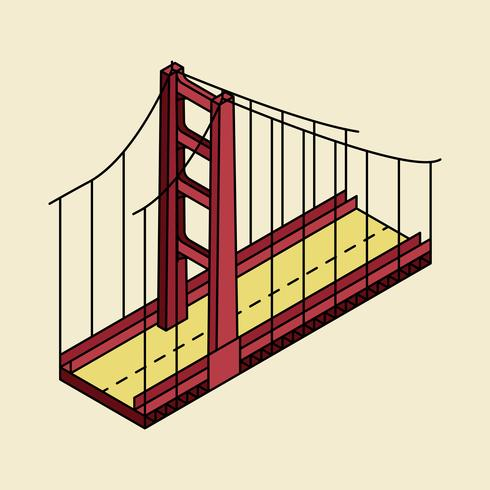 Illustratie van de Golden gate bridge San Francisco in de VS