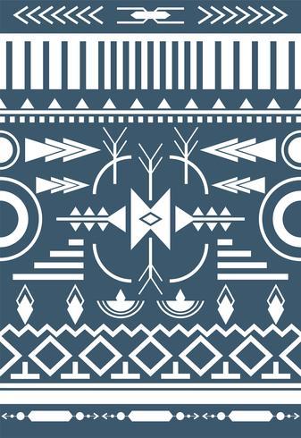 Abbildung des ethnischen Musters