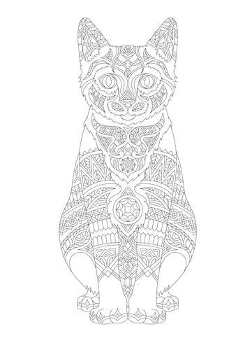 Illustratie van dierlijke volwassen kleurende pagina