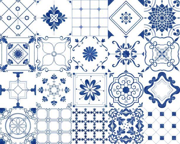 Azulejos estampados vintage
