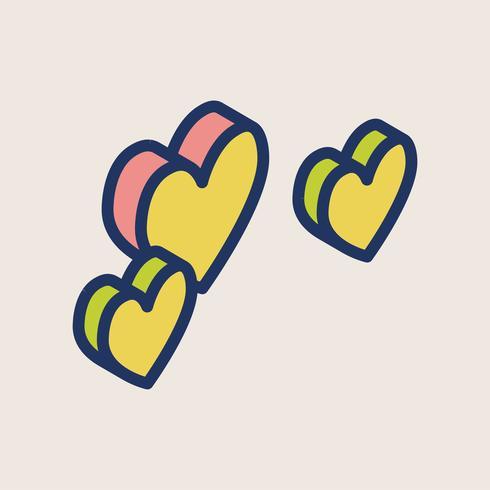 Illustration des icônes de la Saint-Valentin