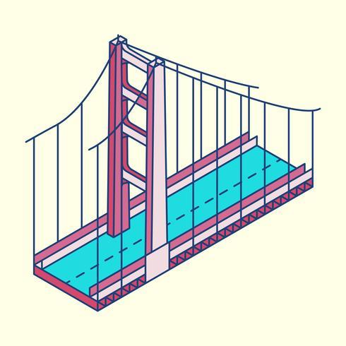 Illustration du pont Golden Gate à San Francisco aux États-Unis