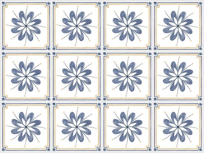 Illustratie van tegels geweven patroon