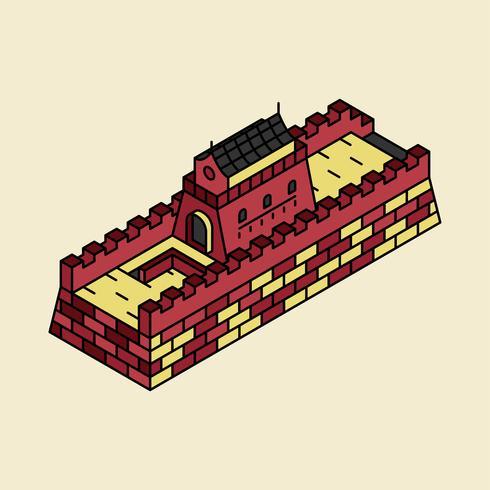 Illustrazione della Grande Muraglia della Cina