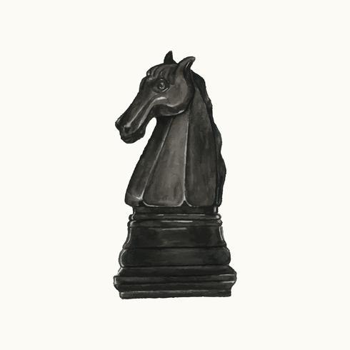 Ilustração de uma peça de xadrez