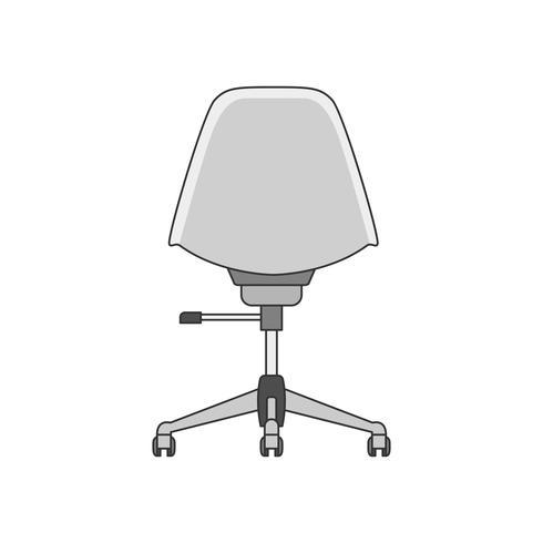 Ilustración de una silla de oficina