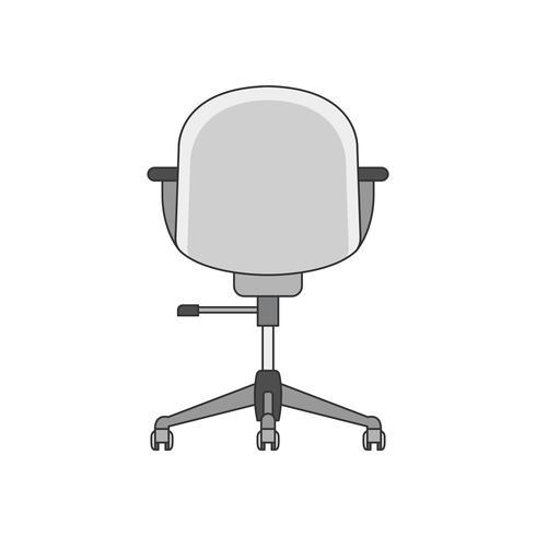 Ilustração das costas de uma cadeira