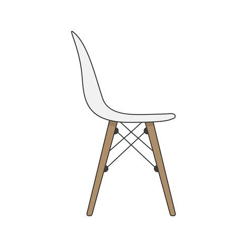 Ilustração, de, um, cadeira