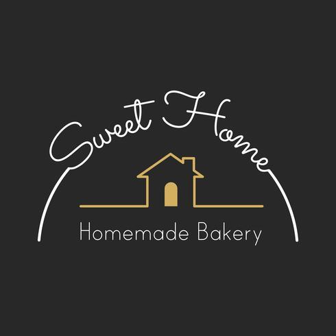 Illustration de la bannière de timbre de boulangerie maison