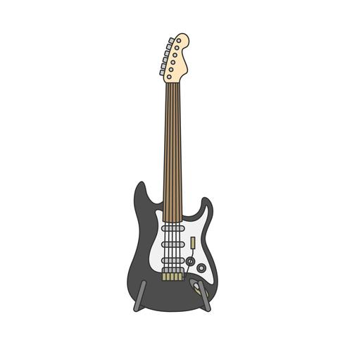 Electric guitar illustration isolated on white
