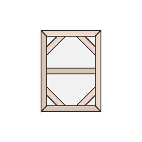 Parte de trás de uma ilustração de tela