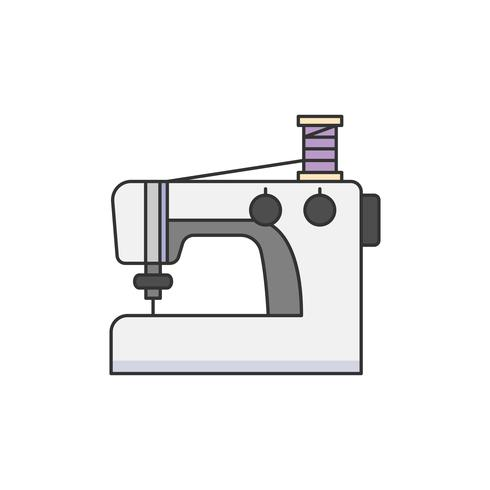 Illustration de la machine à coudre
