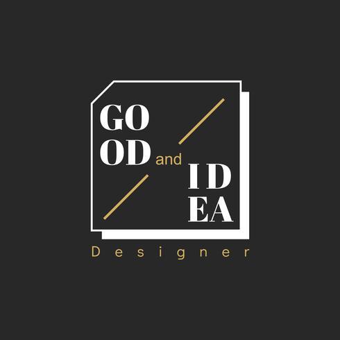Illustration av kreativ formgivare stämpel banner