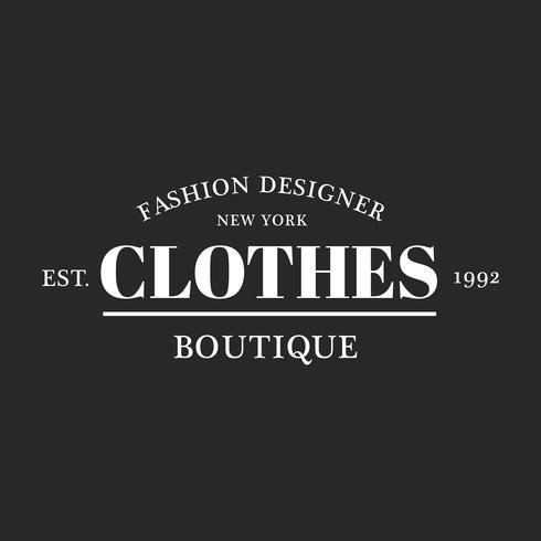 Ilustración de la tienda boutique logo sello banner