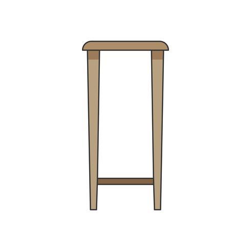 Ilustración de un taburete o una mesa alta