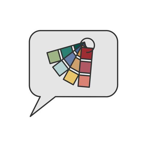 Bocadillo de diálogo y la ilustración de muestra de color