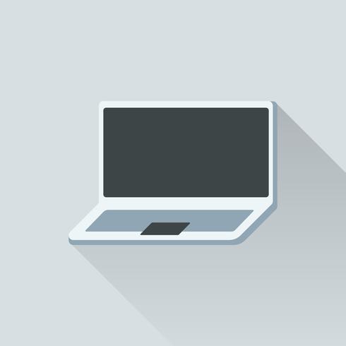 Ilustración de la computadora portátil aislado