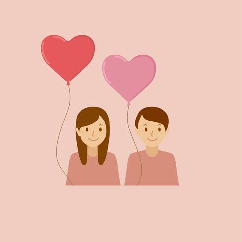 Abbildungen der Elemente des Valentinsgrußes
