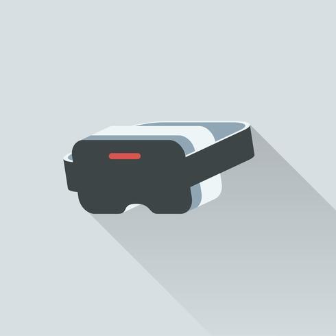 Illustration av virtuellt verklighetshuvud