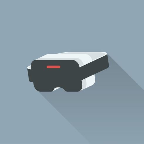 Illustration of virtual reality headset