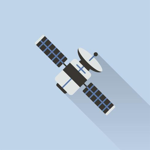 Illustration av satellit