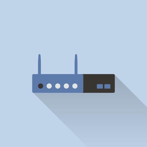 Ilustración del icono del router wifi