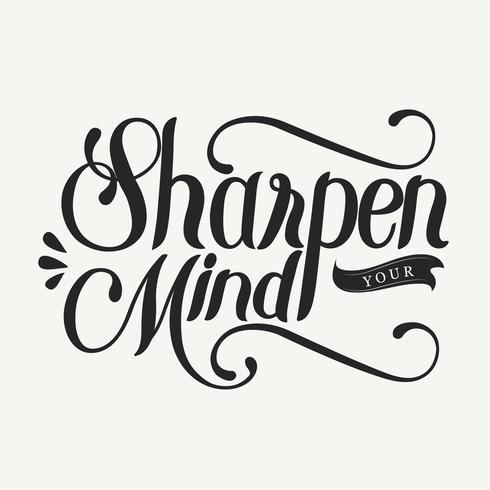 Afina tu mente tipografía diseño ilustración