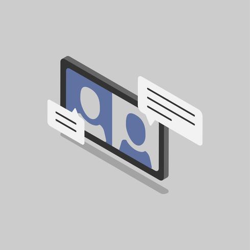 Illustratie van chatroom
