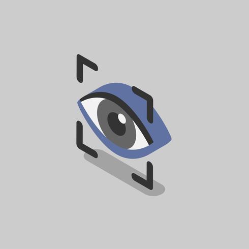 Illustration of eye recognition scanning