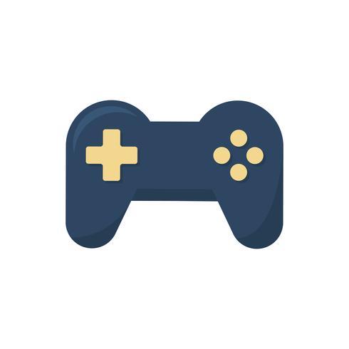 Grafica icona di controllo di gioco blu