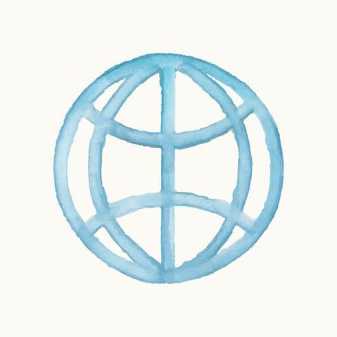 Ilustração, de, um, internet, símbolo