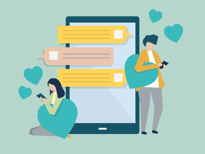 Dating textmeddelanden för henne