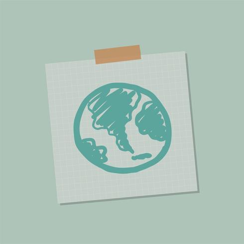 Ir ilustração de nota global verde