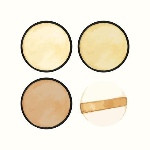 Produit cosmétique dessiné à la main isolé sur fond blanc