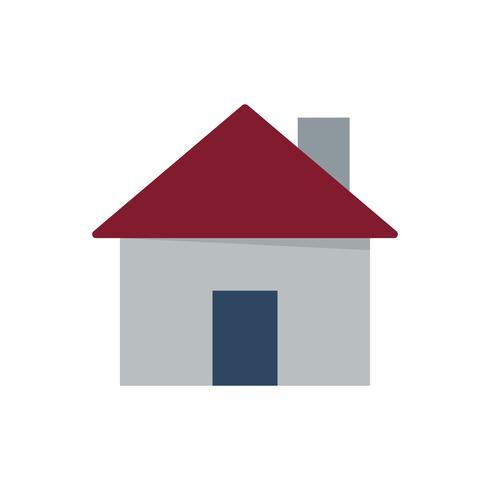 Maison avec illustration graphique de cheminée