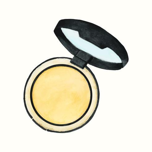 Handgjord kosmetisk produkt isolerad på vit bakgrund