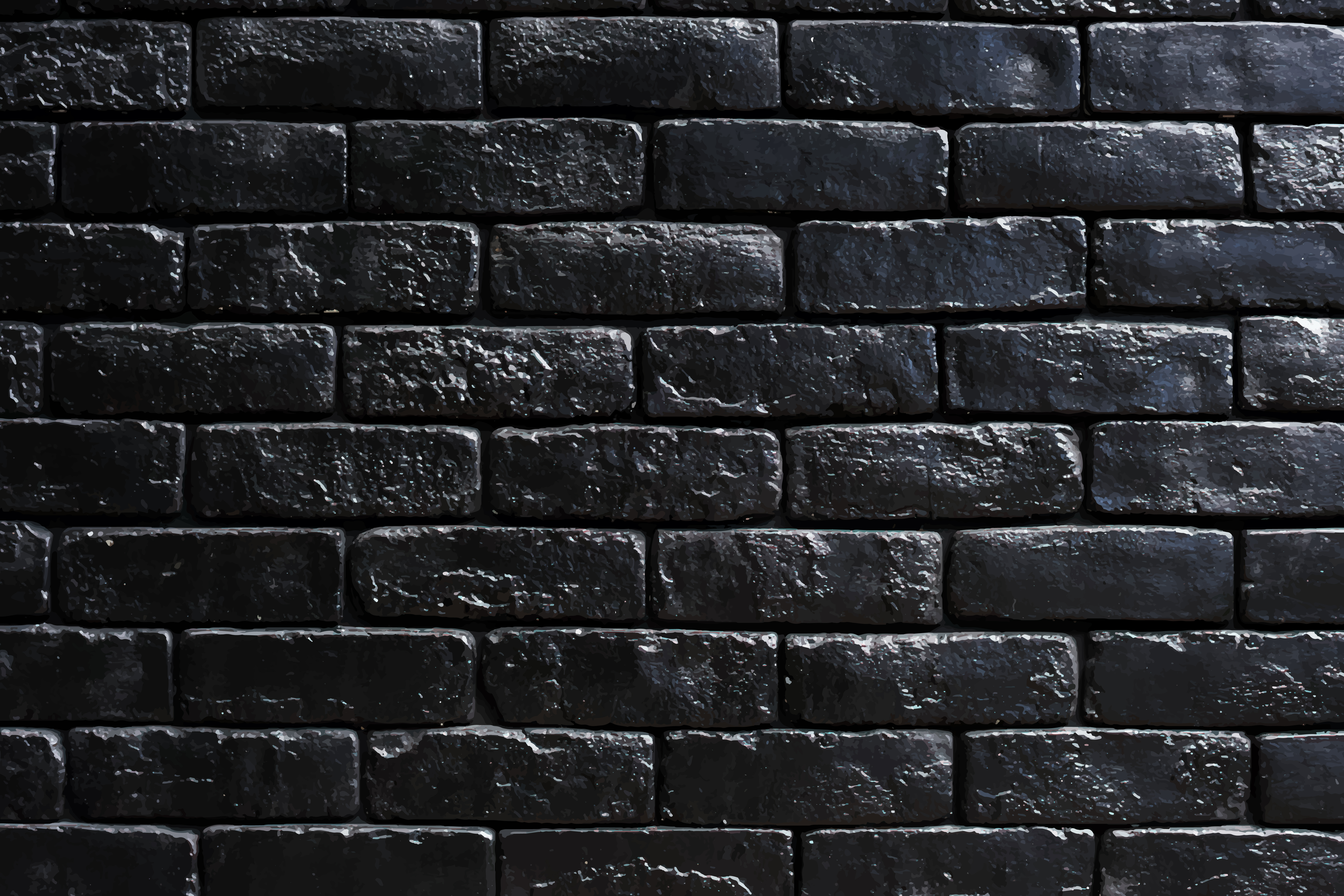 Black brick wall with design space Download Free Vectors