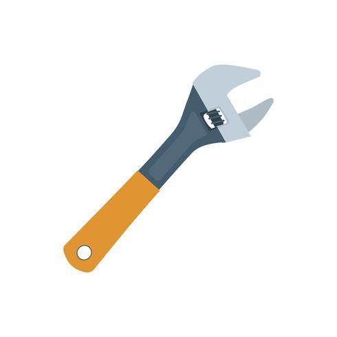 Schlüssel mit orange Griffgraphikillustration