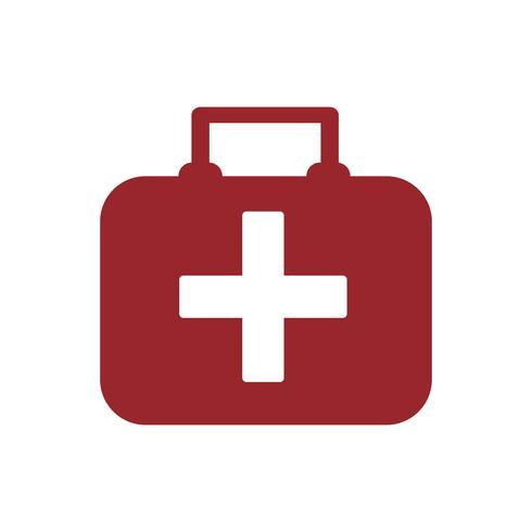 Lokalisierte grafische Illustration des roten Erste-Hilfe-Kindes