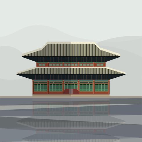 Illustration du palais de Gyeongbokgung