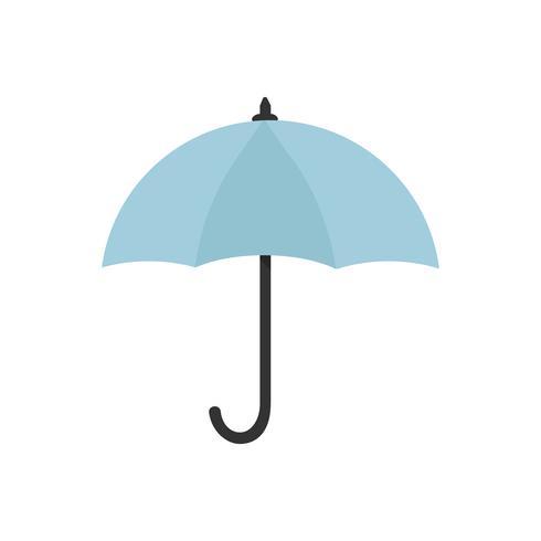 Icono azul paraguas ilustración gráfica aislada