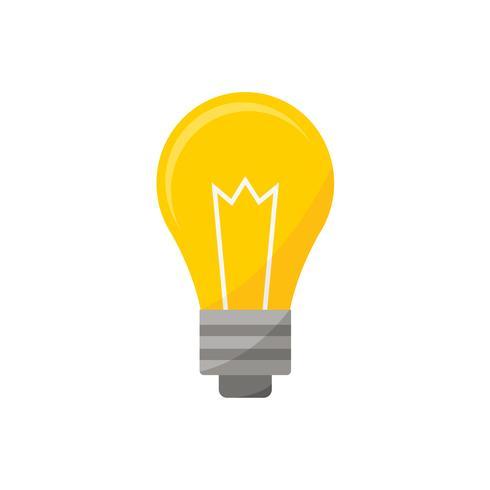 Bombilla de luz icono gráfico ilustración