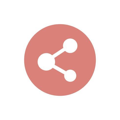 Deel pictogram op oranje cirkel grafische afbeelding