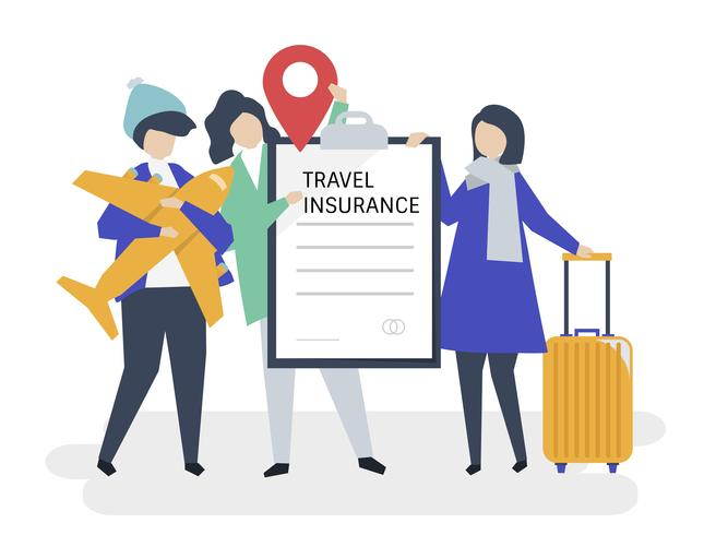 Travelers with travel insurance policy