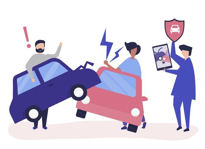 Ett försäkringsagent som löser en bilolycka