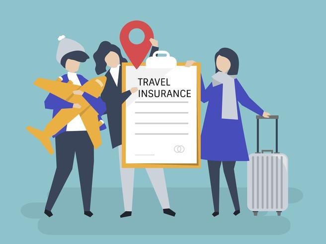 Resenärer med reseförsäkring