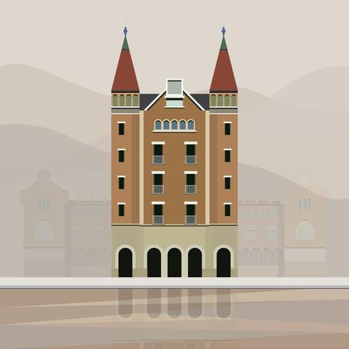 Ilustración de la casa de les punxes