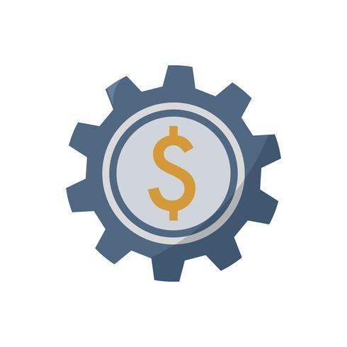 Wölbung mit Dollarzeichen-Grafikillustration