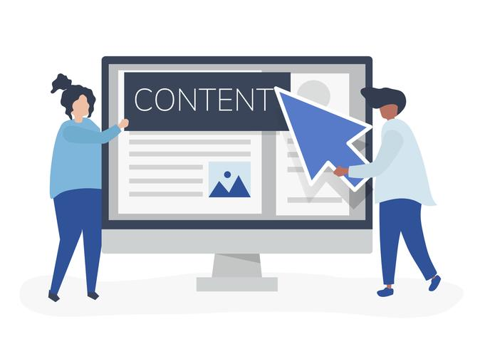 Menschen mit Konzept zur Erstellung digitaler Inhalte